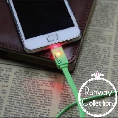 【R】LED智能發光 傳輸線 Iphone 5/5s/5c Android系統 Micro USB HTC SONY Z Ultra 三星 小米機 手機 充電線