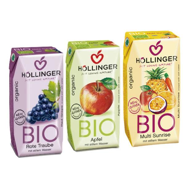 荷林 Hollinger 阿爾卑斯有機果汁200ml3入組 (3款可選)