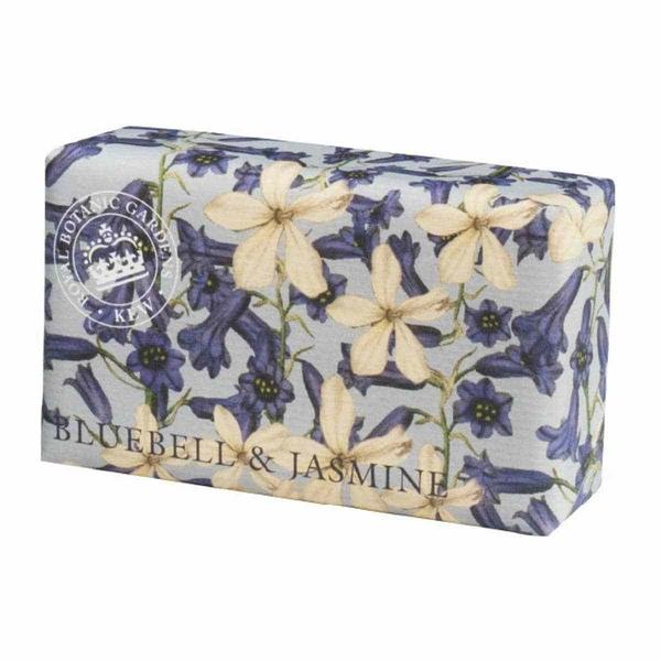 岡山戀香水~Kew Gardens 英國皇家植物園 乳木果油天然香皂 240g (藍風鈴與茉莉) ~優惠價:299元