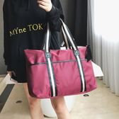 出差短途旅行包女手提韓版大容量行李袋輕便簡約旅游運動健身包男   卡布奇諾
