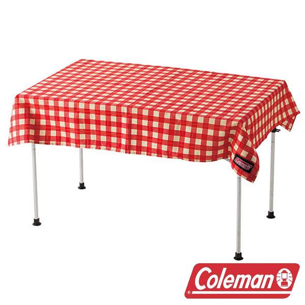 【美國Coleman】桌布『紅格紋』CM-26878野營野餐野餐墊遊戲地墊桌墊桌巾餐桌布抗污防水碗盤墊