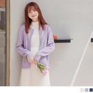 《FA2252》多色.電繡小花編織麻花排釦針織衫/外套 OrangeBear