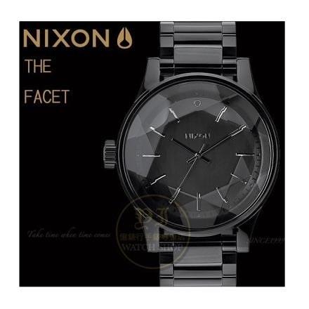 【南紡購物中心】NIXON實體店The FACET閃耀光芒潮流腕錶/ALL BLACK原廠公司貨A384-001