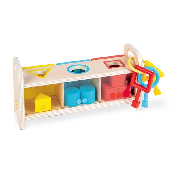 【法國Janod】小小STEAM系列-形狀鑰匙盒