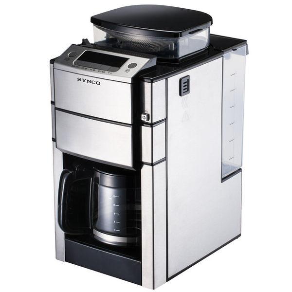 新格 多功能全自動研磨咖啡機 SCM-1015S 12杯份(1.5L)不鏽鋼