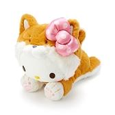 小禮堂 Hello Kitty 沙包玩偶 柴犬玩偶 絨毛玩偶 中型玩偶 布偶 (淺棕 調皮柴犬) 4550337-57406