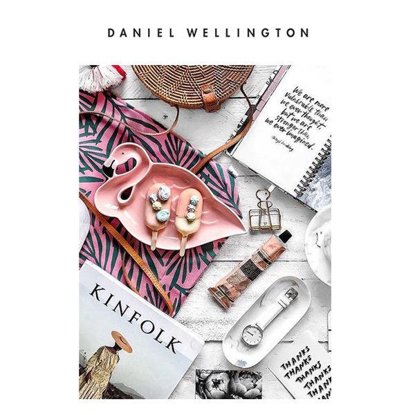 DW 手錶 官方旗艦店 28mm玫瑰金框 Classic Petite 純真白真皮皮革 - Daniel Wellington