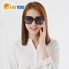 UV100 防曬 抗UV Polarized太陽眼鏡-璀鑽鑲邊