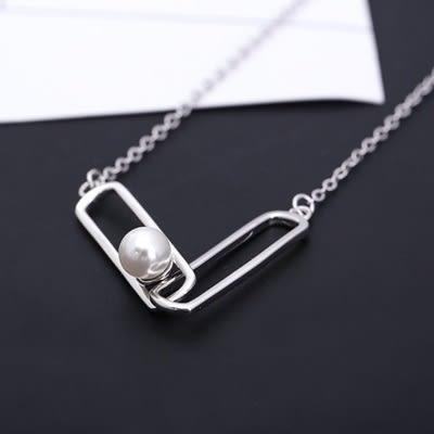項鍊 925純銀珍珠墜飾-簡約時尚情人節生日禮物女飾品73gy80【時尚巴黎】