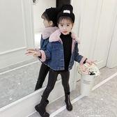 女童加絨外套秋冬裝2018新款韓版潮兒童洋氣加厚牛仔棉衣女孩童裝