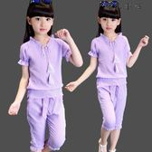 女童衣服韓版兒童兩件套裝潮