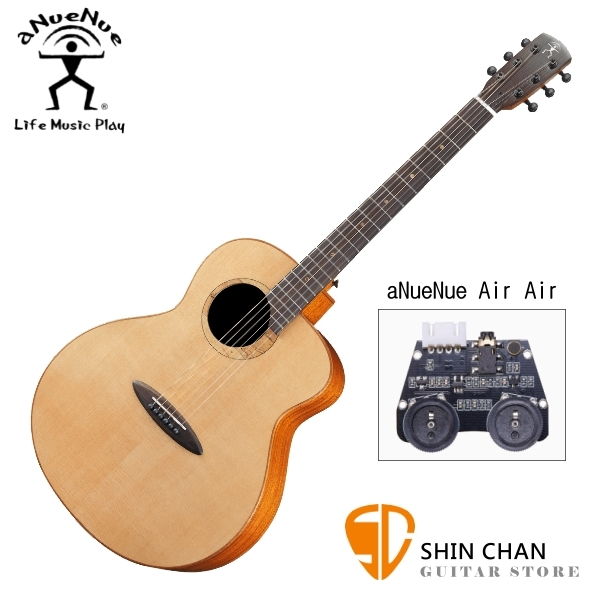 aNueNue L100E 雲杉木面板+桃花心木側背板 41吋 全單板 可插電 民謠吉他/鳥吉他/木吉他 附多樣配件