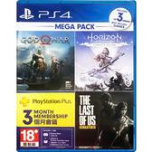 [免運+刷卡]●超優惠組合價●PS4 戰神 + PS4 地平線:期待黎明 完全版 + PS4 最後生還者 + 3個月會籍