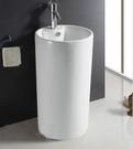 【麗室衛浴】 洗臉盆 B135 落地立柱圓柱型 單孔 46*44*82CM