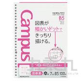 【九乘九購物網】日系潮流 KOKUYO 學習專用活頁紙-理組用7mm KONO-F836AK