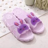 家居拖鞋女夏室內可愛防滑浴室軟底卡通居家用洗澡塑料涼拖鞋情侶
