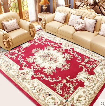 歐式地毯客廳沙發茶几墊臥室滿鋪床邊長方形簡約現代田園美式家用【1.6×2.3米 密度400V】