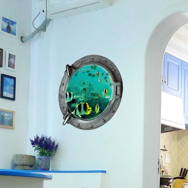 創意壁貼--3D立體海底世界 Z2002-1034【AF01013-1034】i-style居家生活