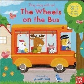 【幼兒操作書/附線上歌曲】WHEELS ON BUS /歌謠拉拉書《主題:歌謠.操作》