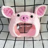 寵物帽子貓咪狗狗頭套變裝帽粉色小豬毛線頭飾可愛搞怪拍照配飾品