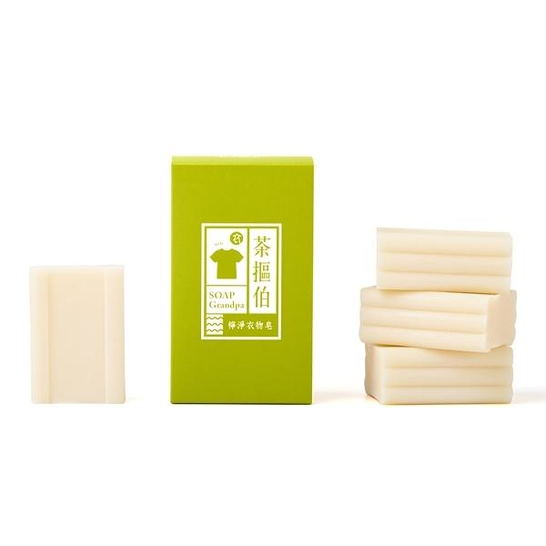 臺灣茶摳 茶摳伯檸淨衣物皂(120gx4入)【小三美日】衣物洗滌清潔皂