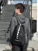 束口包 束口袋男抽繩後背包運動健身房包簡易輕便拉繩書包女訓練籃球背包 芊墨左岸