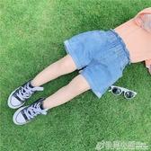 橘汁家女童牛仔短褲夏裝兒童休閒褲女寶寶夏季熱褲花苞褲洋氣 格蘭小舖