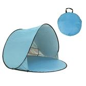 帐篷沙灘海邊度假帳篷簡易小賬公園仗脹鵬蓬棚折疊速開便攜式戶外超輕LX 宜室家居
