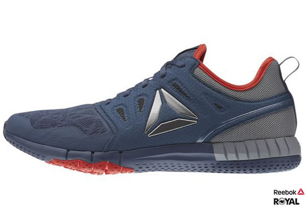 Reebok 新竹皇家 ZPRINT 3D 深藍灰 網布 慢跑鞋 男款 NO.A7911