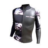 日本品牌HeleiWaho Man拉鍊 頭套式半身防寒衣 潛水衣2.5mm 衝浪衣禦寒保暖浮潛SUP 超彈 M~XL現貨