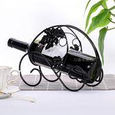 紅酒架歐式創意簡約客廳擺件家居裝飾品葡萄酒架創意鐵藝酒柜擺設