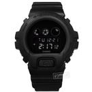 G-SHOCK CASIO / DW-6900BBA-1 / 卡西歐 經典霧黑 電子液晶 運動計時 防水200米 橡膠手錶 黑色 48mm