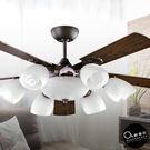 吊扇燈★52吋質感原木色燈扇6燈 ♥燈具...