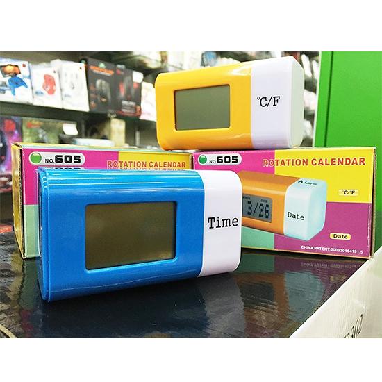 [哈GAME族]滿399免運費 可刷卡 KINYO 耐嘉 七彩炫光電子鐘 TD-605 四種模式 七彩閃燈 藍/橘 兩色