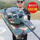 超大號遙控坦克充電動履帶式金屬坦克模型可發射兒童男孩玩具汽車 快速出貨