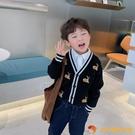 兒童針織衫開衫韓版中小童春秋寶寶學院風毛衣外套男童洋氣春季潮【小獅子】