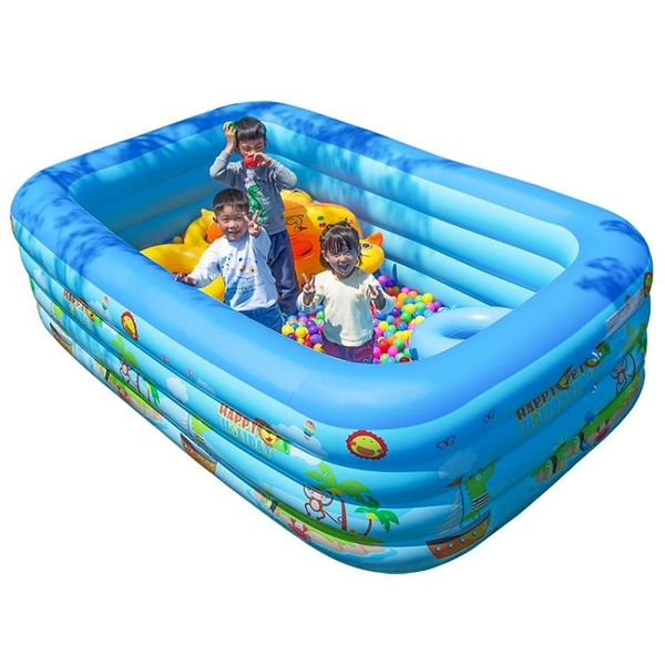 充氣泳池 兒童游泳池家用嬰兒寶寶小孩游泳桶大人折疊家庭戶外超大充氣加厚 夢藝