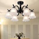 吊燈鐵藝術復古客廳臥室餐廳地中海現代簡約...