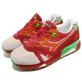 DIADORA 復古慢跑鞋 N9000 NYL 紅 綠 麂皮鞋面 經典款 潮流時尚系列 運動鞋 女鞋【PUMP306】 DA160827C6118