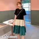 拼接顯瘦A字裙娃娃裝 兩色【CUH21102】孕味十足 孕婦裝