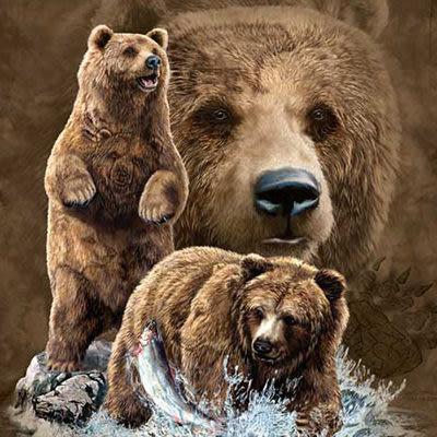 【摩達客】 (預購) 美國進口【The Mountain】自然純棉系列 尋十棕熊群 T恤(10412045177a)