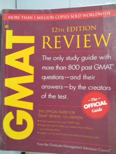 【書寶二手書T5/語言學習_QGG】GMAT Review_Graduate Management Admission