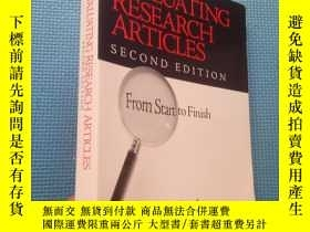 二手書博民逛書店EVALUATING罕見RESEARCH ARTICLES (S