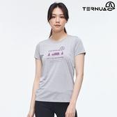 TERNUA 女 Dryshell圓領短袖上衣1207254 AF / 城市綠洲(輕量透氣、快乾、防曬、防異味)