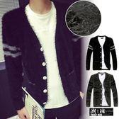 『潮段班』【HJ092903】韓版 貼式口袋 手臂線條 毛衣外套