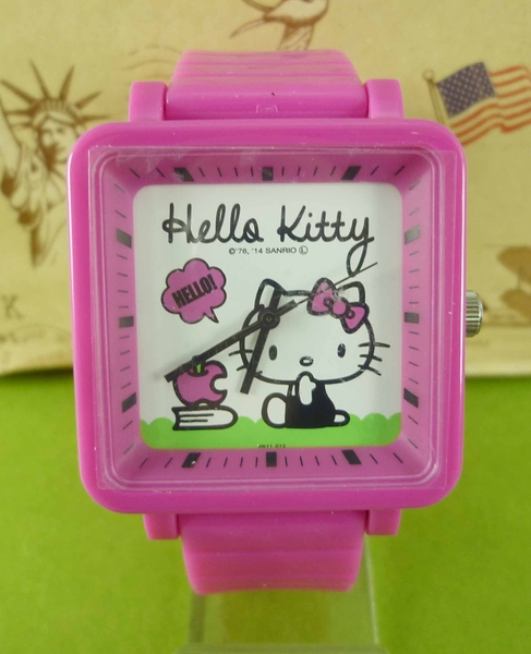 【震撼精品百貨】Hello Kitty 凱蒂貓~電子錶-蘋果桃【共1款】
