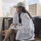 襯衫 白色襯衫春裝新款學生bf風百搭開衫...
