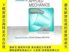 二手書博民逛書店applied罕見mechanics;section:olivier coussy memorial 2013年.