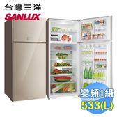 台灣三洋 SANLUX 533公升雙門變頻冰箱 SR-C533BVG
