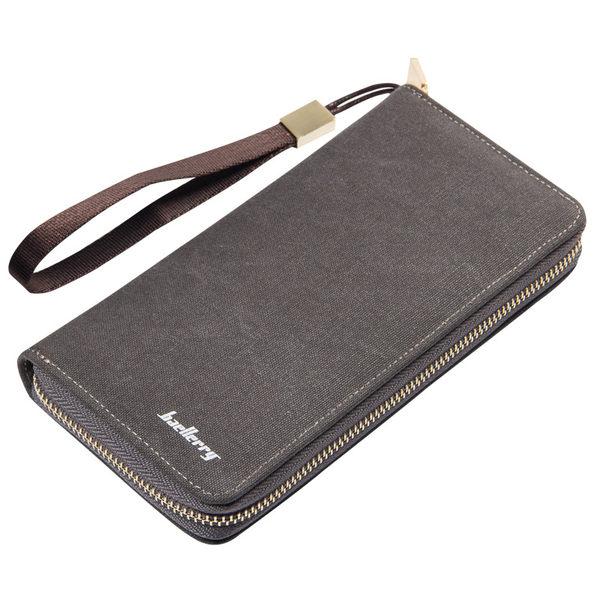 【現貨】長款皮夾 素面復古拉鍊錢包 手機包 長夾 -s6032-寶來小舖
